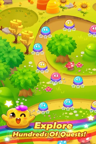 Sugar Sweet Crunch - Race and Match 3 Puzzle Blast game screenshot 4
