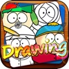 Drawing Desk South Park : Draw and Paint Cartoon on Coloring Book For Childrens
