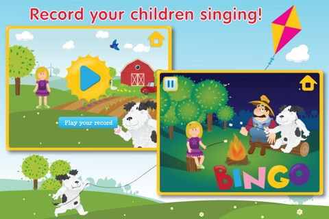 Kids Apps ∙ Bingo ABC alphabet phonics song. Interactive Nursery Rhymes with Karaoke music. screenshot 3