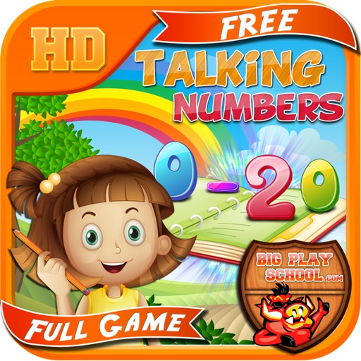 Talking Numbers ( 0 - 20 ) w/ Premium Children's Voices - Free e-Learning for Kids iOS App