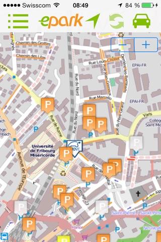 ePark  : Trouve-moi une place de parc en ville ! screenshot 1