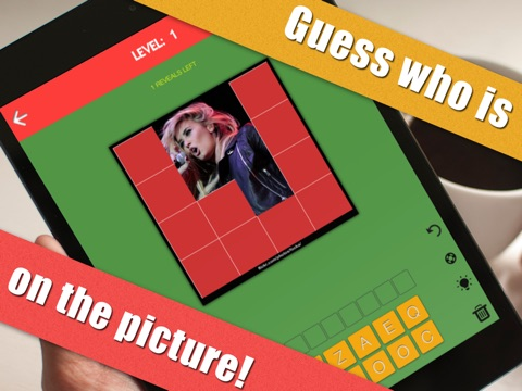 Screenshots of Guess My Celeb - Guess who's the famous celebrity in this word trivia quiz game for iPad