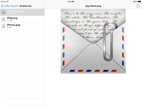 how to open winmail dat on ipad
