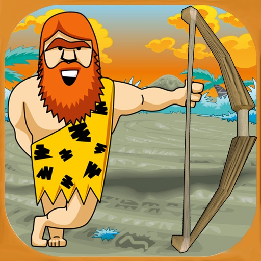 Caveman arrow and apple shooting game - Free Edition iOS App