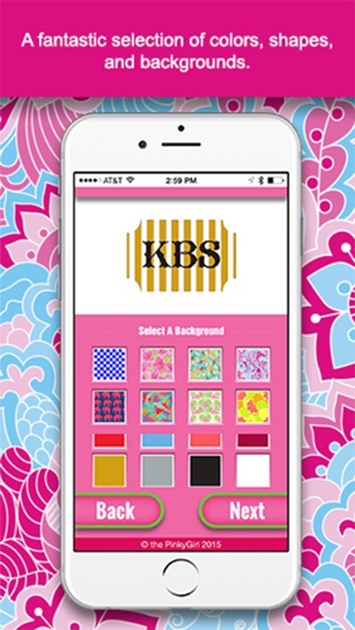 the pinkygirl monogram maker and text app on the app store