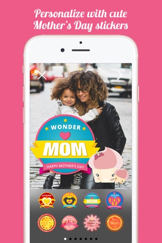 Mothers Day FREE Instant Photo Sticker App screenshot 2