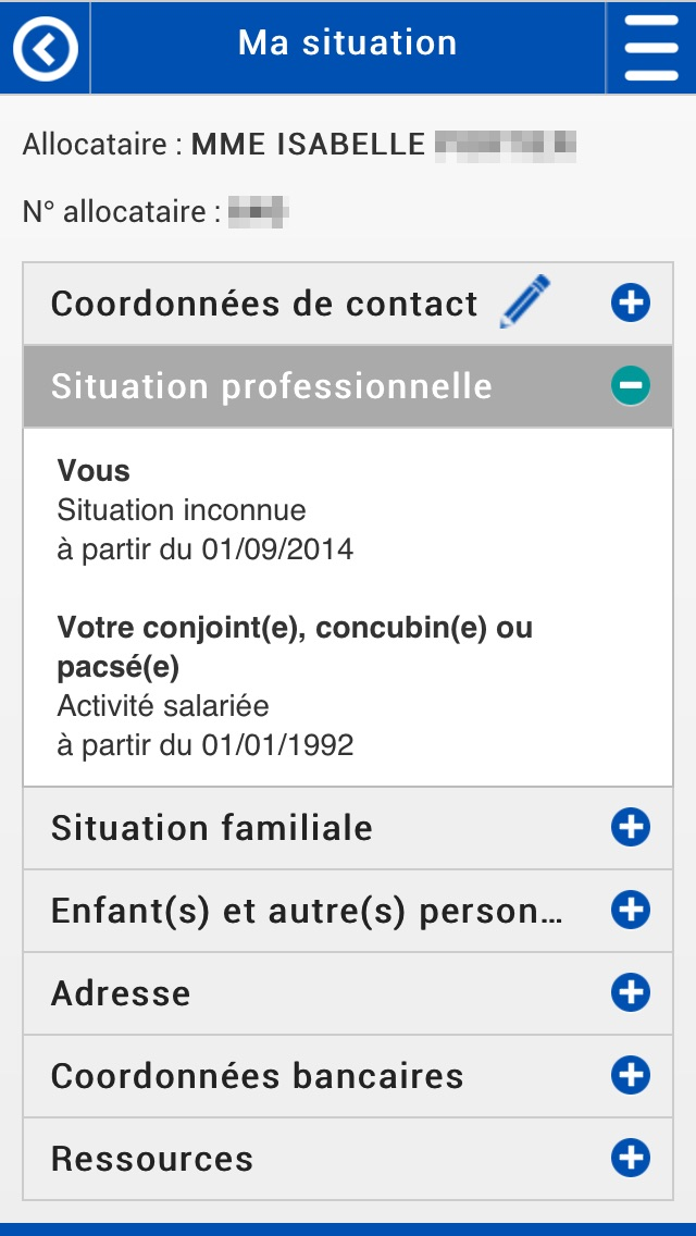 Caf Mon Compte Version Mobile