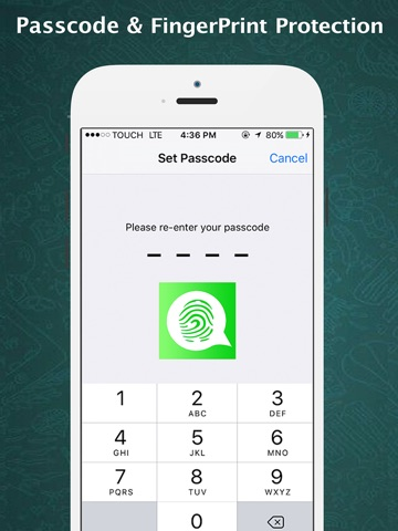 Password for Whatsapp AppLock PRO - Lock With Password or Touch ID for hidden messages-ipad-0