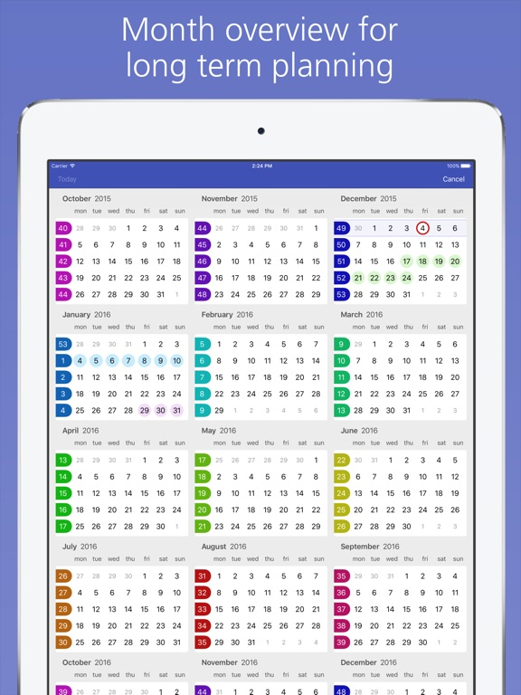 Easy Calendar Screenshots