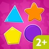 LittleOnes Toddler Puzzle Shapes 2, Educational Puzzle Games for Babies, Toddlers & Preschool Kids. Sorting Shapes and Colors
