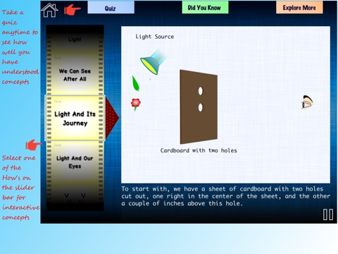 Science of Light Vol-1 Lite: Basic Physics Concepts by Learning Rabbit screenshot 2