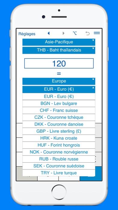 Capture d'écran de Convertisseur de devises et calculateur de monnaie2