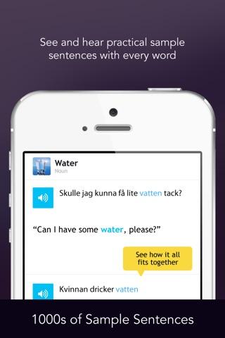 Learn Swedish - WordPower screenshot 4
