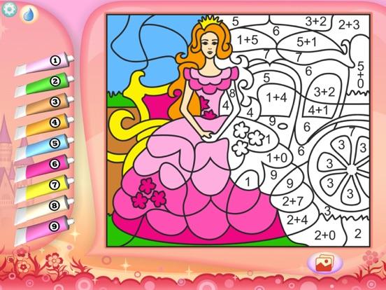 Раскрась по номерам - Принцессы - Бесплатно на iPad