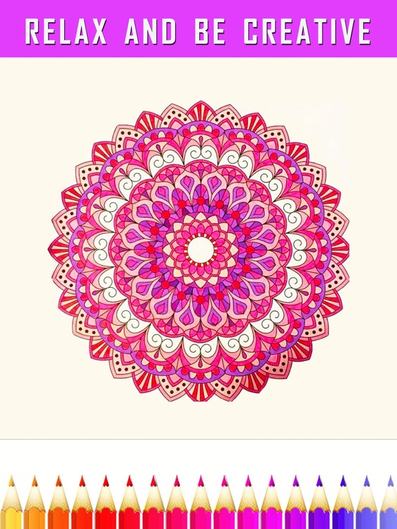 Screenshots of FREE Adult Coloring Book - Color Therapy Page for Anti-Stress Relief for iPad