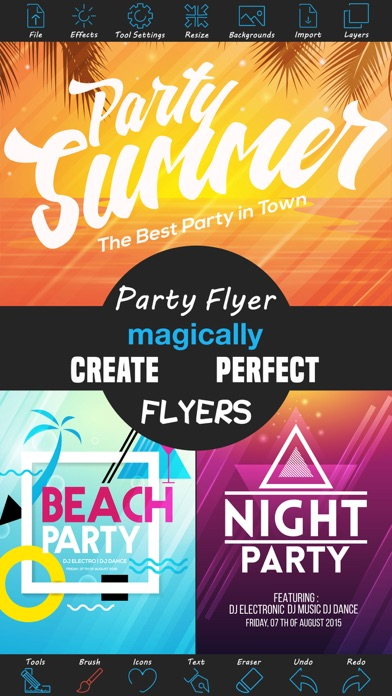 Party Flyer Creator - Flyers For Promotions, Parties, Music, Band
