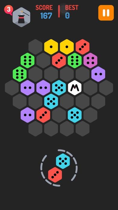 Make M! Hexa Puzzle - Merged block dominos mekorama game screenshot one