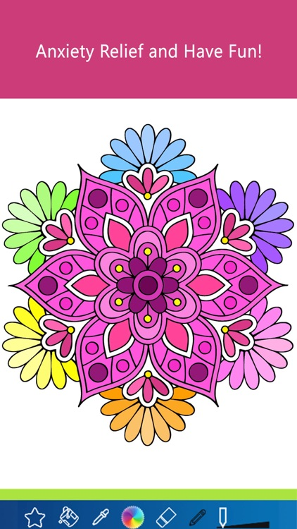 Mandala Coloring Pages Game For Girls Adult Anxiety Stress Relief