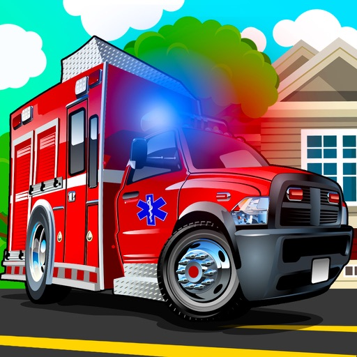 Ambulance driving simulator - Emergency truck highway racing games easy for small girls and boys iOS App