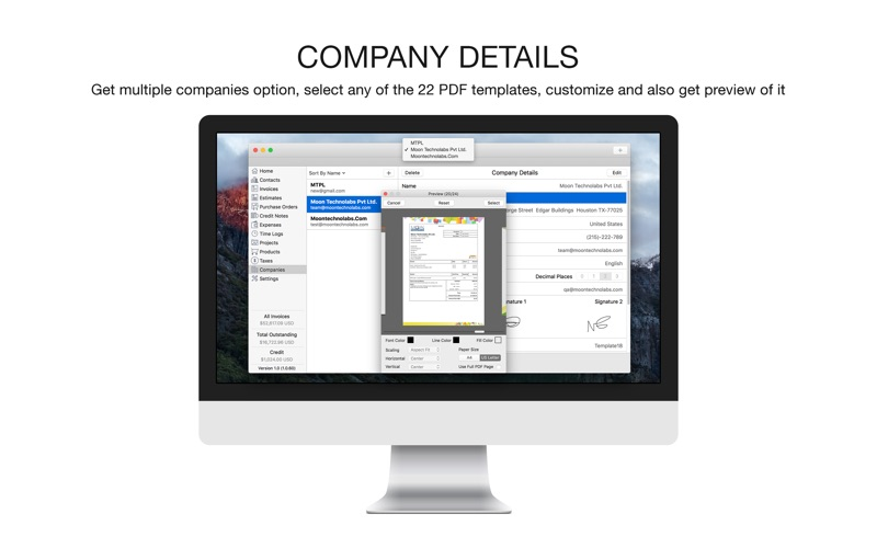 Delta Airlines Receipt Pdf Moon Invoice  Easy Invoicing On The Mac App Store Lexis Power Invoice Word with How To File Receipts For Business Excel Screenshot  Moon Invoice  Home Depot Online Receipt