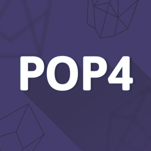 POP4 Number Puzzle Game iOS App
