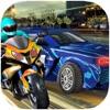 Super Bike Vs Sports Car - 3D Racing Game