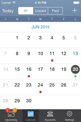 BillTracker for iPhone screenshot 2