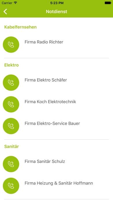 Bauverein Friemersheim direkt screenshot