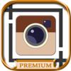 Insta white frame for Instagram photos with a white border - Premium