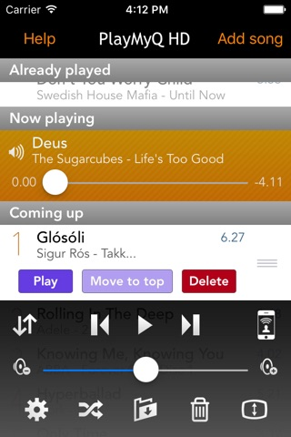 PlayMyQ - Music Player • Remote • Jukebox screenshot 1