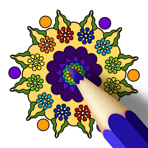 Interactive Coloring Pages For Adults : Mandala coloring pages interactive touch book