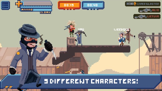 Gangfort - Online 2D Platformer Shooter Screenshot