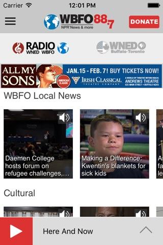 WBFO 88.7 screenshot 2