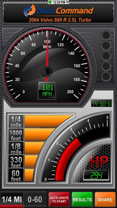 DashCommand - OBD-II gauge dashboards, scan tool Screenshot