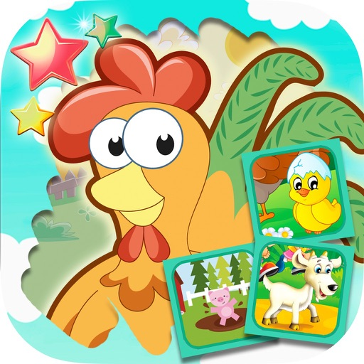 Scratch farm animals & pairs game for kids iOS App