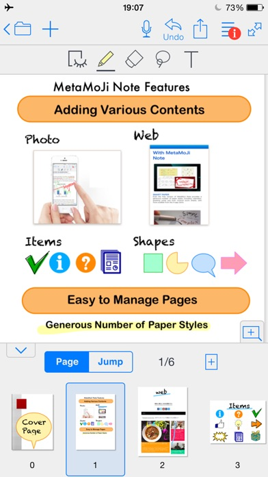 MetaMoJi Note - note taking and PDF annotation app Скриншоты5