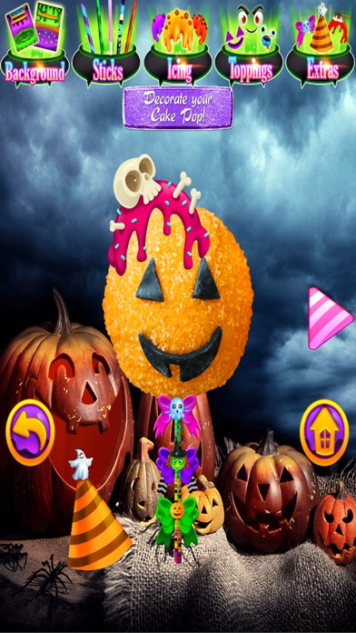 iphone screenshot 3 - Halloween Cake Games
