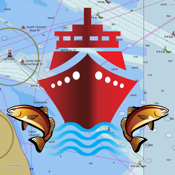 i-Boating: GPS Nautical / Marine Charts - offline sea, lake & river navigation maps for fishing & sailing icon