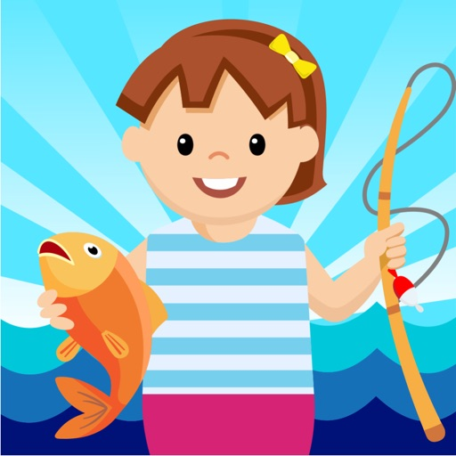Girl Fishing - toddler games free for educational iOS App