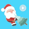 Bashful Santa Claus Animated Stickers