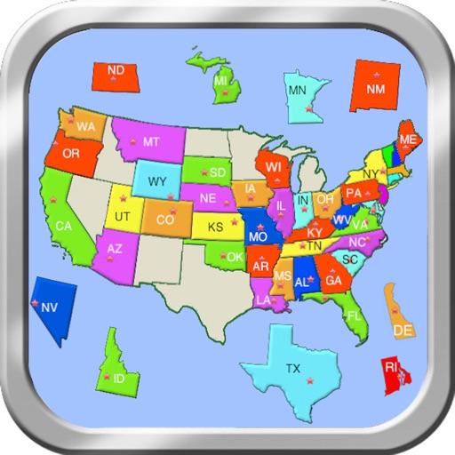 米国パズルマップ