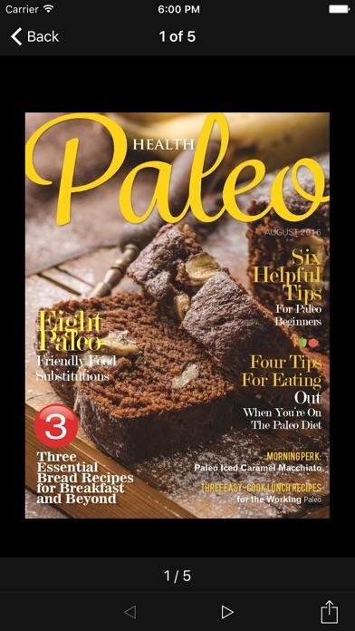 Paleo Health Magazine review screenshots