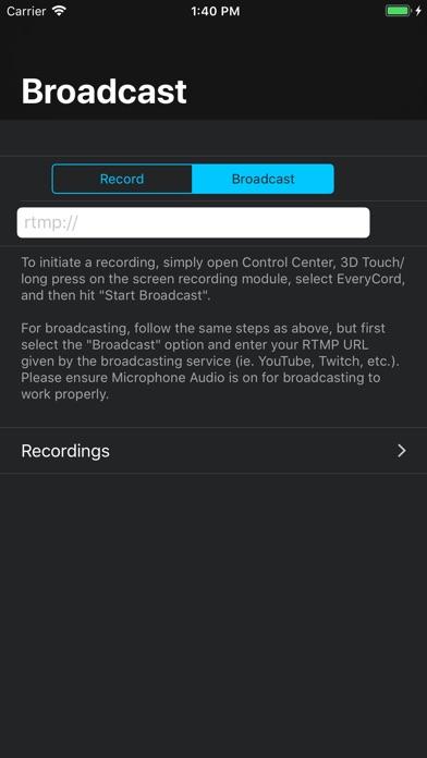 EveryCord – Record & Broadcast screenshot 2