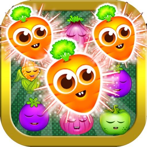 Farm Fruit Vegetables Garden Match 3 Link Splash iOS App