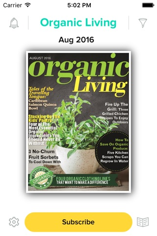 Organic Living Magazine screenshot 1