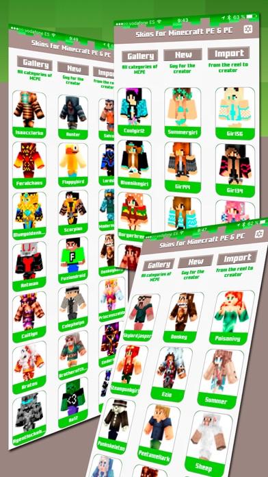 Skins for Minecraft PE & PC - Free SkinsCapture d'écran de 3