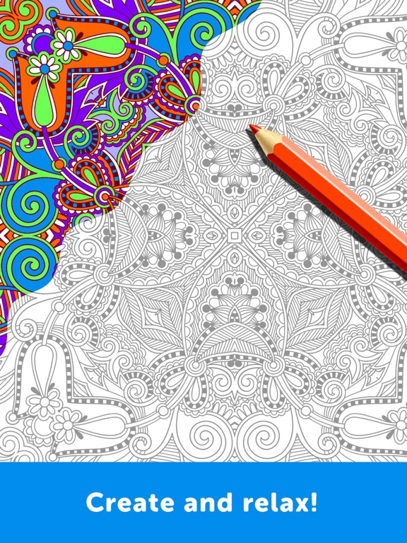 ipad screenshot 2 - Coloring Book App For Adults