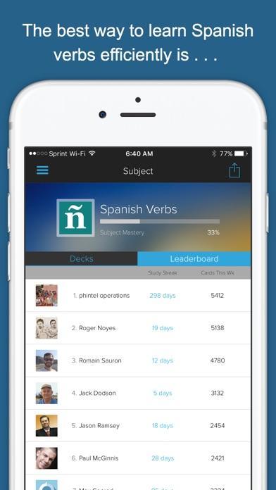 Spanish Verbs Genius Screenshots
