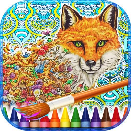 Animorphia Adult Coloring Book iOS App