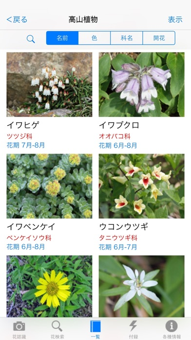 花しらべ 花認識/花検索 screenshot1